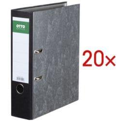 20x Ordner A4 OTTO Office Classic breit, Wolkenmarmor