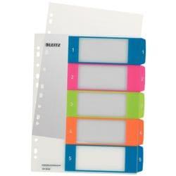 Leitz Kunststoffregister »WOW« 1-5 A4 Maxi