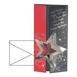 Weihnachtskarte Sigel Pleasure, DIN lang, mit Umschlag, 10 Stück