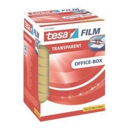 tesa Klebeband Office Box, transparent, 10 Stück, 15 mm/66 m