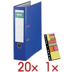 20x Ordner A4 OTTO Office Exclusive I breit, einfarbig inkl. Haftstreifen-Mix »Universal« auf Einhefter