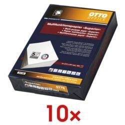 10x Multifunktionales Druckerpapier A4 OTTO Office Premium Superior - 5000 Blatt gesamt, 80 g/m²