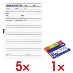 OTTO Office 5x Formularvordrucke »Gesprächsnotiz« inkl. 1x Pagemarker