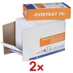 2x Multifunktionales Druckerpapier A4 OTTO Office Everyday - 5000 Blatt gesamt, 75 g/m²