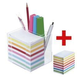 folia Zettelbox mit Stiftehalter inkl. Ersatzklotz