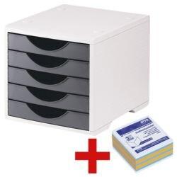 OTTO Office Schubladenbox »Standard« inkl. Haftnotizwürfel 75 x 75 mm »Brilliant-Mix« 3-farbig