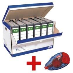 OTTO Office Ordner-Container (10 Stück) inkl. Kleberoller »ecoLogo«