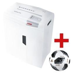 Aktenvernichter HSM shredstar X10, Sicherheitsstufe 4, Partikelschnitt (4,5 x 30 mm) bis 10 Blatt inkl. adidas WM-Fußball 2018 »Telstar«