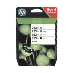 HP Tintenpatronen-Set HP 953XL Multipack, schwarz, cyan, magenta, gelb - 3HZ52AE
