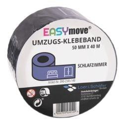 Loer & Schäfer Umzugs-Klebeband EasyMove® Schlafzimmer dunkelblau, 50 mm breit, 40 Meter lang