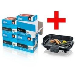 4x Öko-Box Kopierpapier Inapa tecno Star (A4, 80 g/m²) inkl. Barbecue-Elektrogrill »PG 8528«