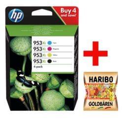 HP Tintenpatrone HP 953XL Multipack - 3HZ52AE inkl. Fruchtgummi »Goldbären«