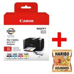 Canon Tintenpatronen-Set »PGI-1500XL BK/C/M/Y« inkl. Fruchtgummi »Goldbären«