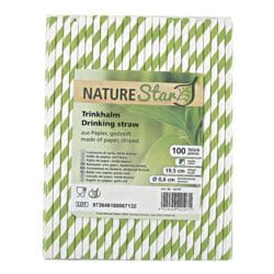 NATURE Star Papier-Trinkhalme gestreift