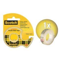 Scotch Doppelseitiges Klebeband mit Handabroller