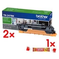 Brother 2x Jumbo-Toner »TN-247BK« inkl. Fruchtgummi »Roulette« 25 g