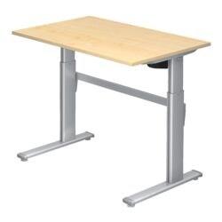 HAMMERBACHER Schreibtisch höhenverstellbar (elektrisch) »Upper Desk« 120 cm, C-Fuß alufarben