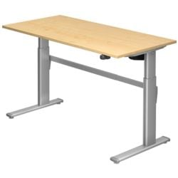 HAMMERBACHER Schreibtisch höhenverstellbar (elektrisch) »Upper Desk« 160 cm, C-Fuß alufarben