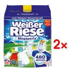 Henkel 2x Waschmittel »Weißer Riese Megaperls«