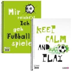 Landré Collegeblock Fußball A4+ kariert, 80 Blatt