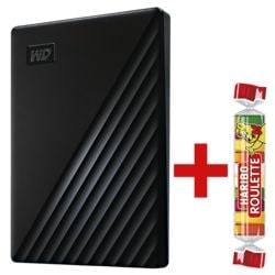 Western Digital My Passport™ 1 TB, externe HDD-Festplatte, USB 3.0, 6,35 cm (2,5 Zoll), inkl. Fruchtgummi »Roulette« 25 g