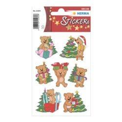 Herma Sticker »Weihnachtsbären«
