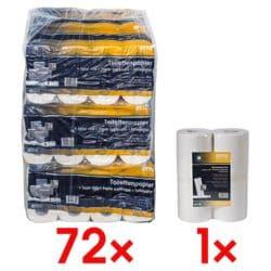 OTTO Office Premium Toilettenpapier »Premium« 4-lagig, hochweiß - 72 Rollen (9 Pack à 8 Rollen) inkl. Küchenrollen 1-lagig Vliesstoff, 2 Rollen