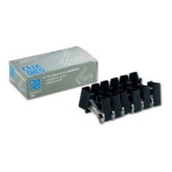 Alco Foldback-Klammern 25 mm, schwarz, 12 Stück