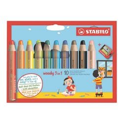 Stabilo 10er-Pack Buntstift »Woody 3 in 1«