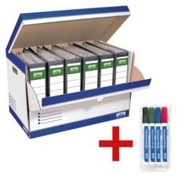 OTTO Office Ordner-Container inkl. 4er-Pack Permanent Marker