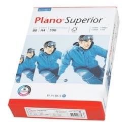 Multifunktionales Druckerpapier A4 Plano Superior - 500 Blatt gesamt, 80 g/m²