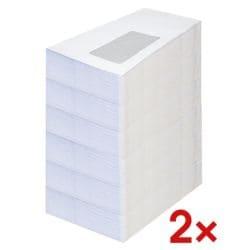 Briefumschläge, DIN lang 75 g/m² mit Fenster, selbstklebend - 2000 Stück