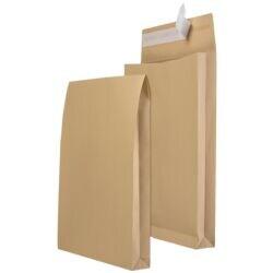 Mailmedia 100 Faltentaschen mit Steh-/Klotzboden, B4 130 g/m² ohne Fenster