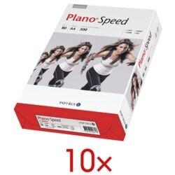 10x Kopierpapier A4 Plano Plano Speed - 5000 Blatt gesamt, 80g/qm