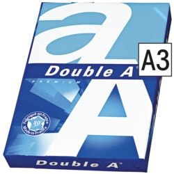 Multifunktionales Druckerpapier A3 Double A - 500 Blatt gesamt, 80 g/m²