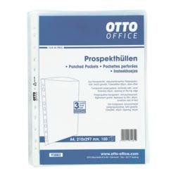 OTTO Office Prospekthülle A4 genarbt, oben offen - 100 Stück