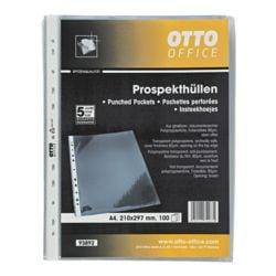 OTTO Office Premium Prospekthülle A4 glasklar, oben offen - 100 Stück