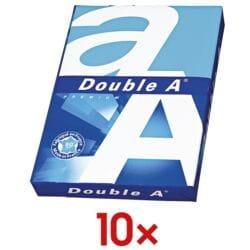 10x Multifunktionales Druckerpapier A4 Double A - 5000 Blatt gesamt, 80 g/m²