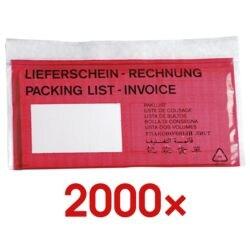 OTTO Office 2er Pack Dokumenten- & Lieferscheintaschen DL 2x 1000 Stück