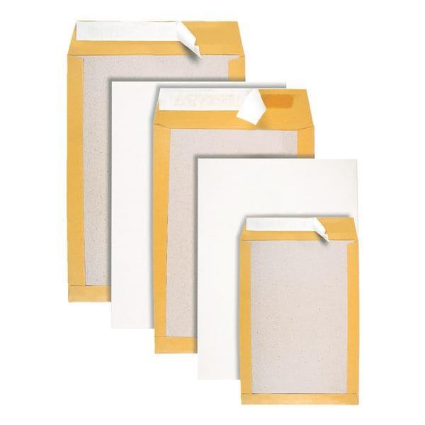 BONG 100 Versandtaschen mit Papprückwand, C5 90 g/m² ohne Fenster