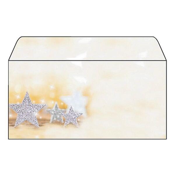 Sigel Weihnachts-Umschlag »Glitter Stars« - 50 Stück