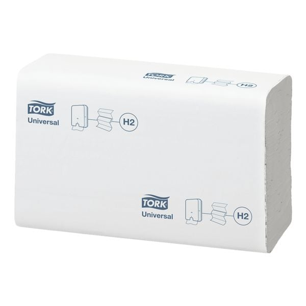 Papierhandtücher Tork 150299 2-lagig, weiß, 21 cm x 23 cm aus Tissue mit I-Falzung - 4740 Blatt gesamt