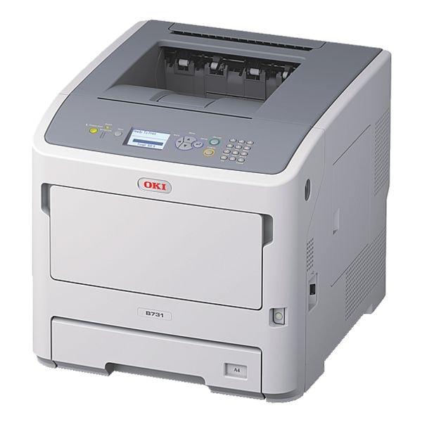 OKI B731dnw Laserdrucker, A4 schwarz weiß Laserdrucker, 1200 x 1200 dpi, mit WLAN und LAN