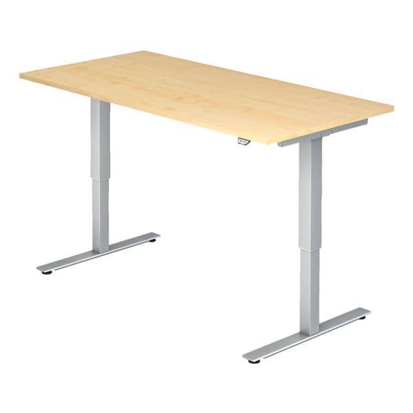 HAMMERBACHER Schreibtisch höhenverstellbar (elektrisch) XMST16 »Upper Desk« 160 cm, C-Fuß alufarben