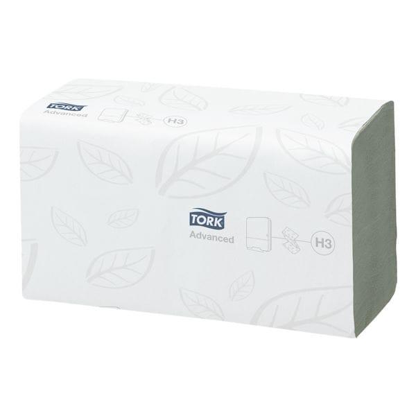 Papierhandtücher Tork 290179 ZigZag 2-lagig, grün, 25 cm x 23 cm aus Tissue mit Z-Falzung - 3750 Blatt gesamt