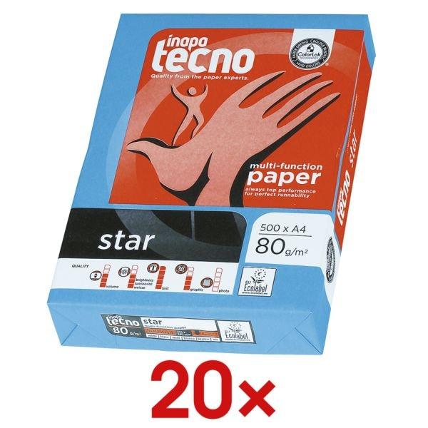 20x Kopierpapier A4 Inapa tecno Star - 10000 Blatt gesamt, 80 g/m²