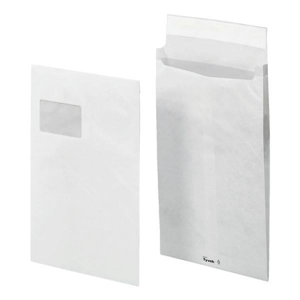 Tyvek 100 Sicherheits-Faltentaschen, C4 mit Fenster