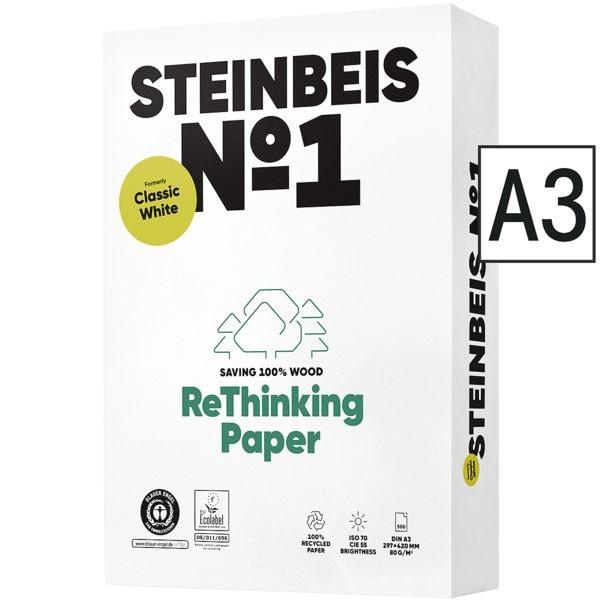 Recyclingpapier A3 Steinbeis Classic White - 500 Blatt gesamt