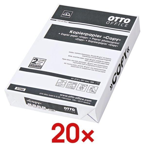 20x Kopierpapier A4 OTTO Office Budget COPY - 10000 Blatt gesamt, 80g/qm