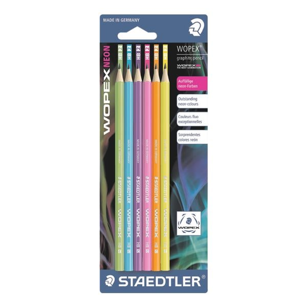 6x Bleistift-Set STAEDTLER Wopex, HB, ohne Radiergummi